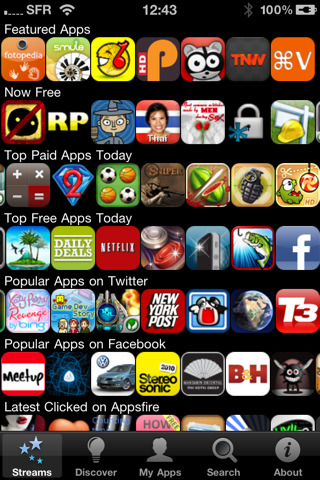 Application AppsFire 2.1 MAJ iPhone