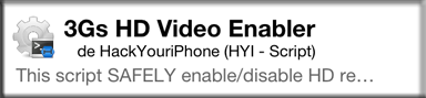 News : 3GS HD Video Enabler sur Cydia disponible et Gratuit