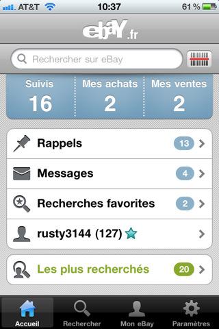 News AppStore : Application Ebay Maj 2.0.0