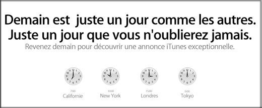 News Apple ? Demain iTunes illuminera notre journee..?