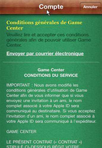 Actualite Apple : Game Center deshabille ses joueurs !