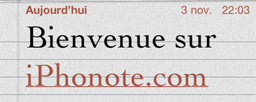 New Cydia : NotesFont Changez de Typo !