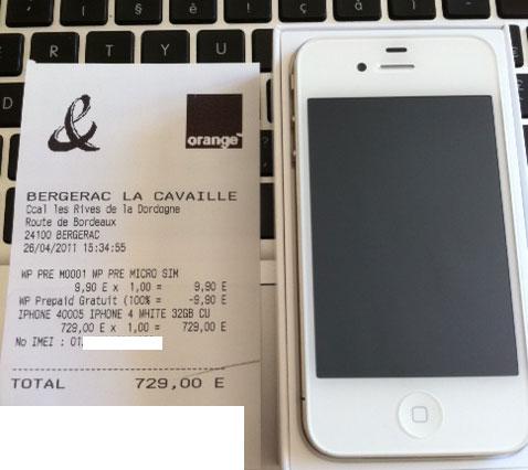 iphone 4 blanc disponible a l 39 essai sur iphonote. Black Bedroom Furniture Sets. Home Design Ideas
