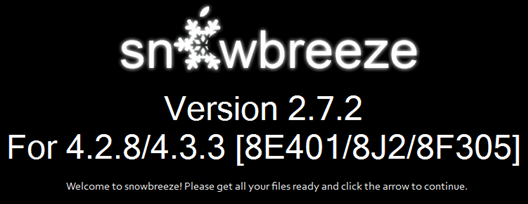 Sn0wbreeze v 2.7.2 – Jailbreak Apple TV 2G iOS 4.2.2 ( iOS 4.3 )