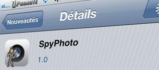 Cydia – SpyPhoto : Prenez vos photos sans ouvrir l'application Photo