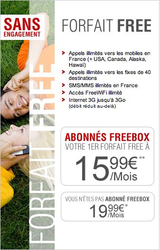 Forfait FreeMobile