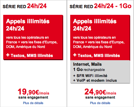 Forfait RED