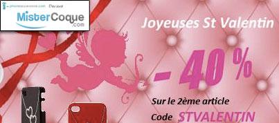 Mistercoque : Promotions spéciales Saint-Valentin -40%