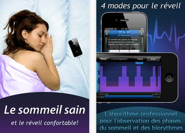 r veil intelligent cycles du sommeil enregistrement des bruits et des irritants. Black Bedroom Furniture Sets. Home Design Ideas