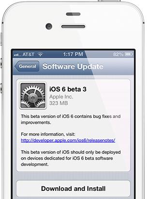 L'iOS 6 bêta 3 disponible pour les développeurs