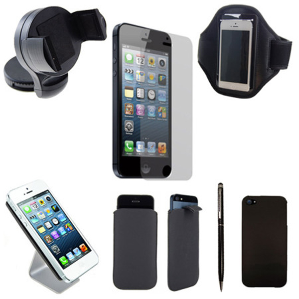 iphone 5 le pack 7 accessoires platinum pour. Black Bedroom Furniture Sets. Home Design Ideas
