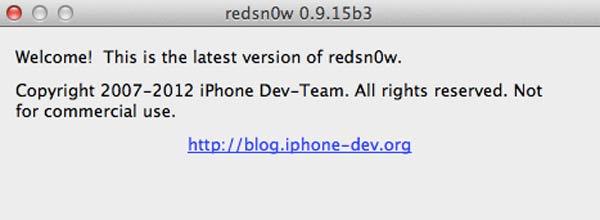 Redsn0w 0.9.15b3 permet le jailbreak iOS 6.0.1 et iOS 6.1