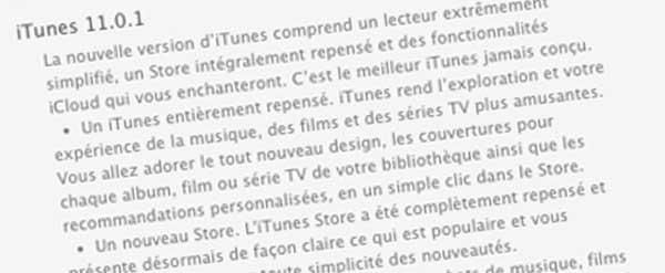 iTunes 11.1 disponible en téléchargement