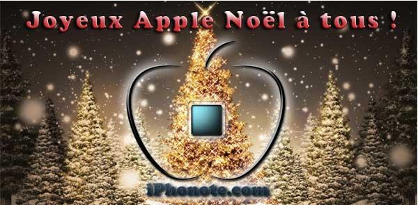 Joyeux Noel Apple.La Team Iphonote Com Vous Souhaite Un Joyeux Noel