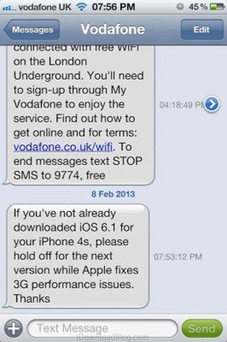 Vodafone-UK-dont-update-to-iOS-6.1.1