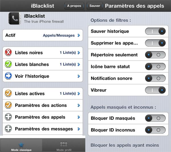 iBlackList-parameters