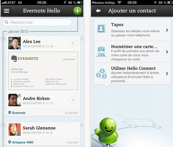 Evernote-hello-2.2-application-iphone