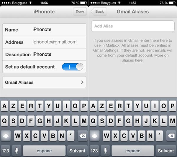 MailBox-gmail-alias