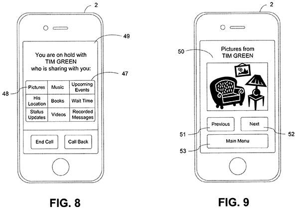 Apple-brevete-le-partage-de-medias-pendant-l-appel-en-attente-2