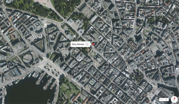 oslo-norvege-apple-cartographie-3D