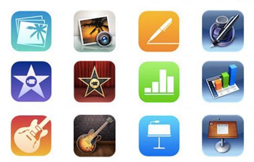 Apple-devoile-avant-l-heure-la-gratuite-de-GarageBand-et-les-icones-de-iLife-et-iWork-au-style-iOS-7-500x319