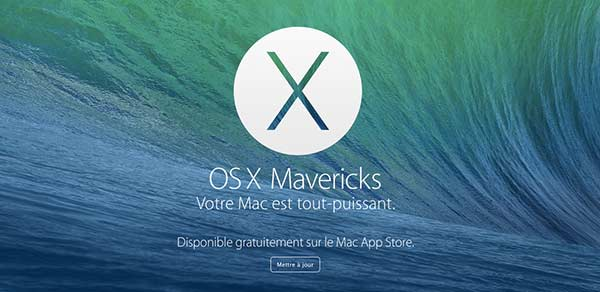 os x mavericks 10 9 mise jour gratuite et disponible sur le mac app store. Black Bedroom Furniture Sets. Home Design Ideas