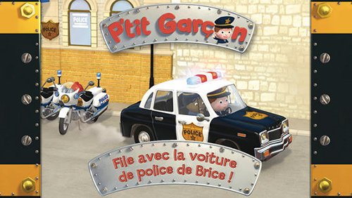 p 39 tit gar on la voiture de police de brice une amusante histoire interactive pour vos enfants. Black Bedroom Furniture Sets. Home Design Ideas