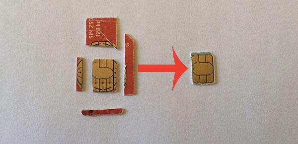 Astuce activer iphone 5s 5 sous ios 7 1 avec une ancienne carte sim usim d sactiv e - Couper une micro sim en nano sim ...