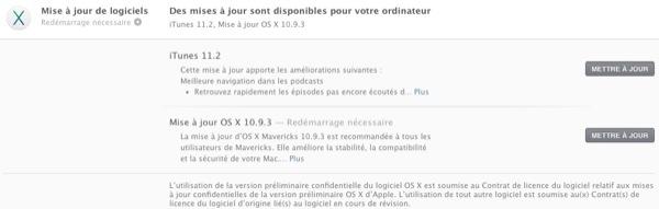 iphonote.com_ Après plusieurs semaines de versions bêta semé pour les développeurs enregistrés, Apple vient de publier la mise à jour d'OS X 10.9.3 - la troisième actualisation majeure de Mavericks.