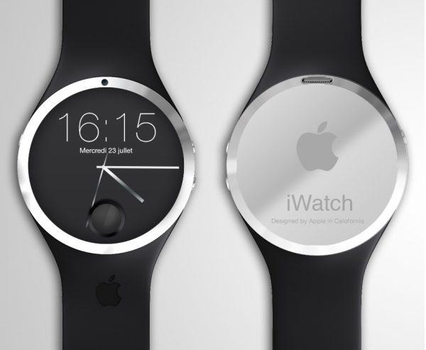 Prototype iWatch avec capteur Touch ID