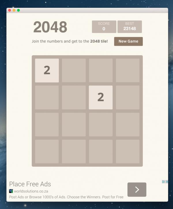 2048, le jeu
