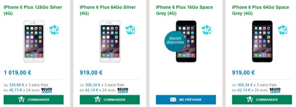 iPhone 6 et iPhone 6 Plus disponibles en commandes sur BandYou