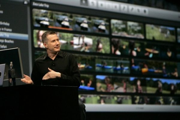 "Ubillos, chief architect for video applications, demonstrates ""iMovie"" application in San Francisco"