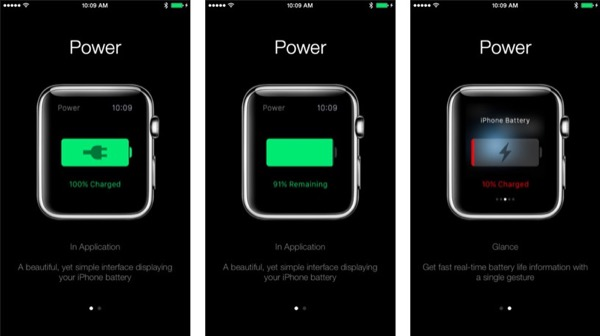 power suivez l 39 tat de la batterie de votre iphone sur l 39 apple watch. Black Bedroom Furniture Sets. Home Design Ideas