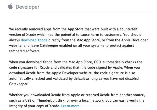 apple-demande-aux-developpeurs-de-verifier-leur-version-de-xcode