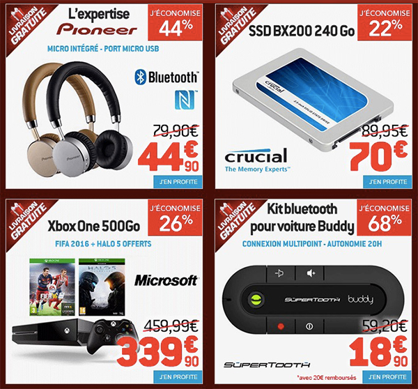 bons-plans-ssd-crucial-240go-xbox-one-casque-pioneer-kit-car-bluetooth