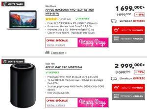 vente flash mac pro imac macbook pro en baisse de prix. Black Bedroom Furniture Sets. Home Design Ideas