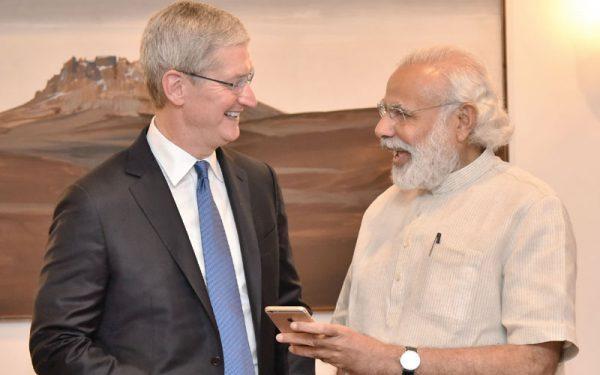 tim-cook-premier-ministre-indien-ont-parle-de-strategie-dapple