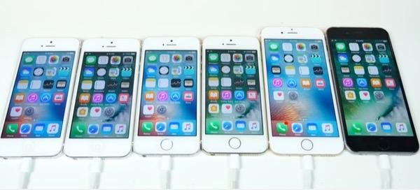 comparatif iphone 5s vs se