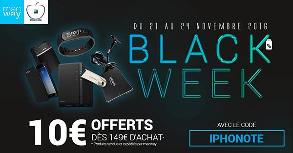 black-week-lance-chez-macway-partenariat-iphonote-code-promo