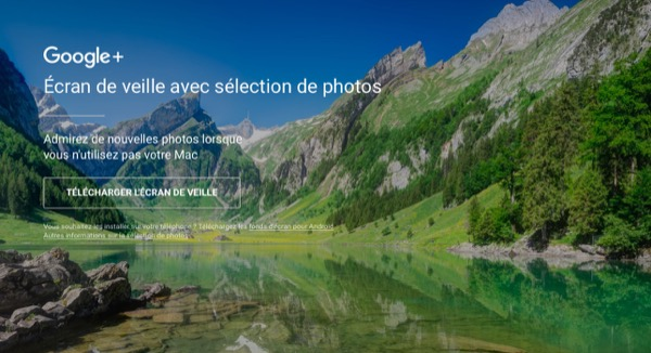 Google propose de t l charger un magnifique cran de for Photo ecran sur mac