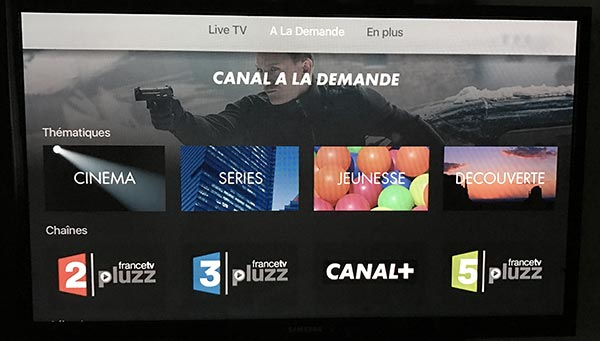 mycanal d barque en version officielle sur l 39 apple tv 4. Black Bedroom Furniture Sets. Home Design Ideas