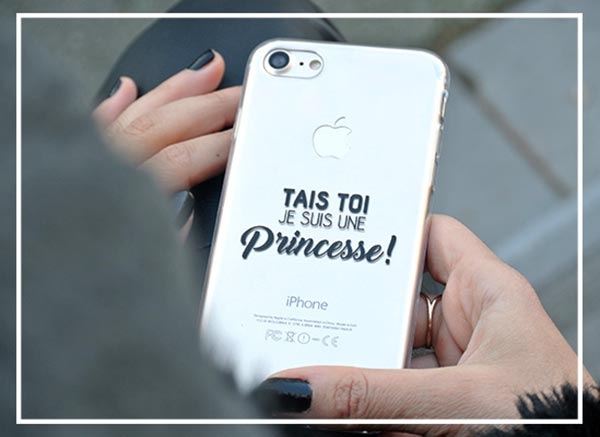 coque iphone xr avec message