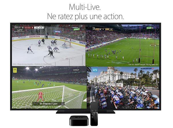 apple tv mycanal permet de scinder votre cran en 4 et. Black Bedroom Furniture Sets. Home Design Ideas