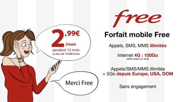 Bon Plan Free : encore 24h pour profiter du forfait illimité 100Go + roaming à seulement 2,99€