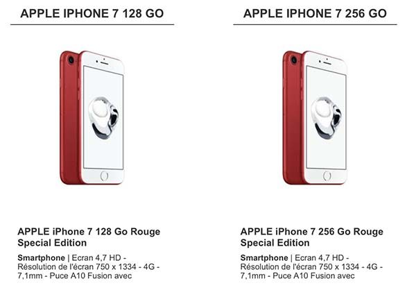 cdiscount propose aussi les iphone 7 et 7 plus product red une remise. Black Bedroom Furniture Sets. Home Design Ideas