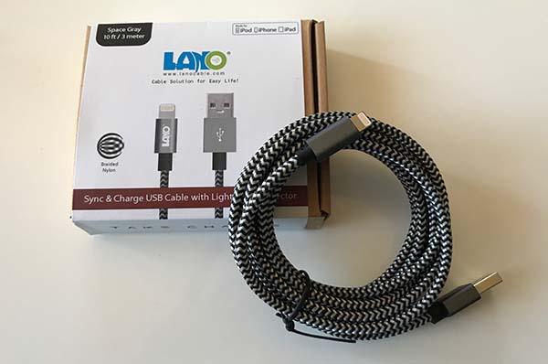 Promo sur le Câble Lightning LANO de 3 mètres en nylon tressé !