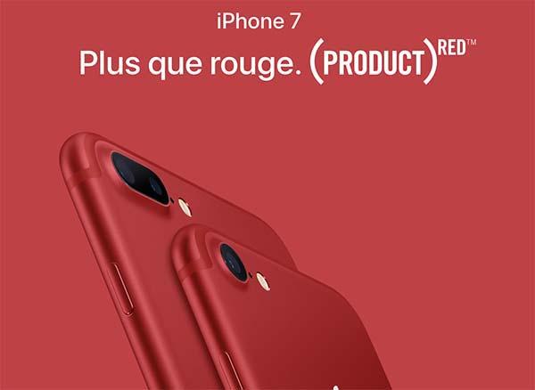 Les iPhone 7 & 7 Plus RED sont en vente chez Orange / Sosh, Bouygues / B&YOU, SFR / SFR RED