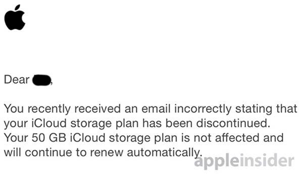 Apple s'excuse auprès des utilisateurs pour la fausse alerte sur l'abonnement iCloud
