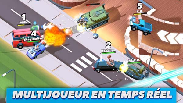 Crash of Cars : une nouvelle carte et 10 voitures supplémentaires, le tout en multijoueur !
